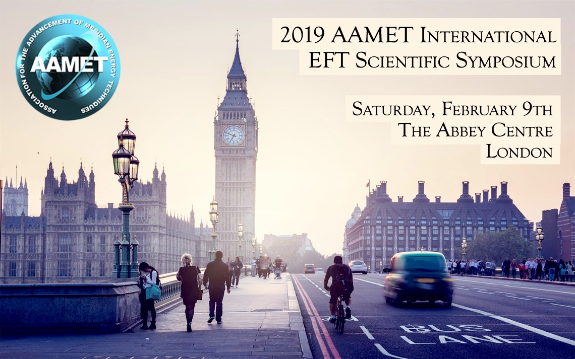 A graphic for the 2019 EFT International EFT Scientific Symposium