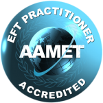 EFT Training Badge, an emblem for an accredited EFT Practitioner.