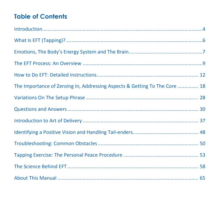 EFT-International-Free-Tapping-Manual-contents